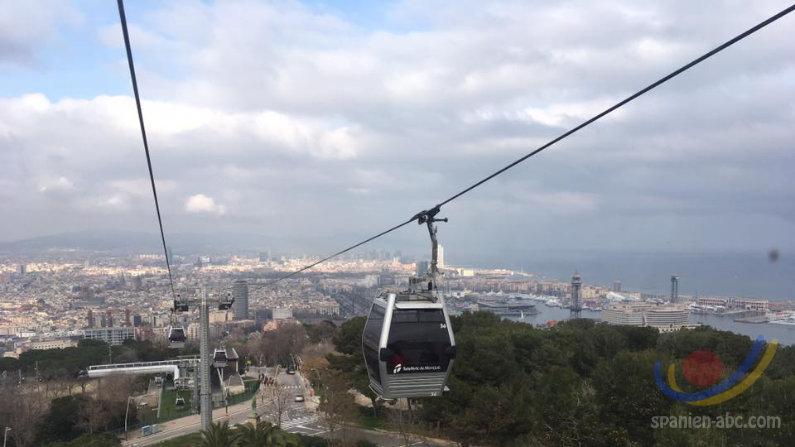 Blick auf Barcelona vom vom Montjuic