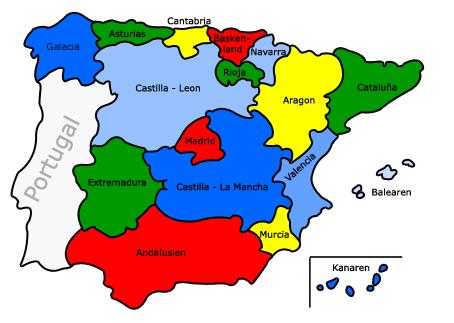 Spanien Karte Regionen.Ferienhauser Ferienwohnungen Hauskauf Costa Blanca